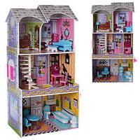 Деревянный домик с мебелью для кукол арт. 2010