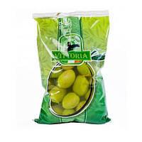 Оливки зеленые крупные Vittoria  Olive Verdi Dolci Giganti Италия 850/500 г, фото 1