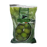 Оливки зеленые крупные Vittoria  Olive Verdi Dolci Giganti Италия 500 г