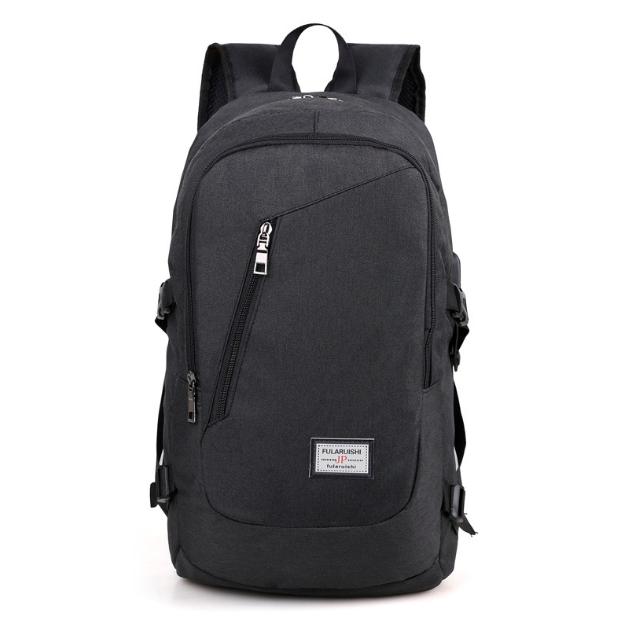 Рюкзак городской Dxyizu с выходом для гаджетов черный