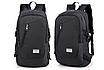 Рюкзак городской Dxyizu с выходом для гаджетов черный, фото 3
