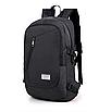 Рюкзак городской Dxyizu с выходом для гаджетов черный, фото 2