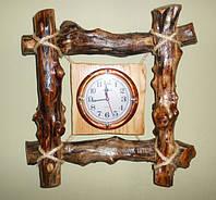 """Часы из дерева """"Балки"""", фото 1"""