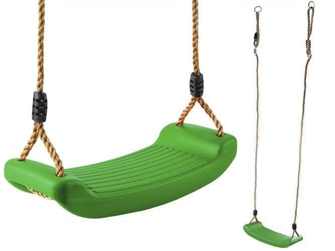 Гойдалка дитяча зелена, сидіння для качелі , фото 1