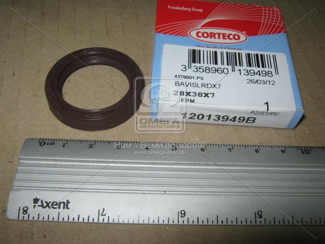 Сальник N FORD 1.8D 28X38X7 FPM BAVISLRDX7 (производитель Corteco) 12013949B
