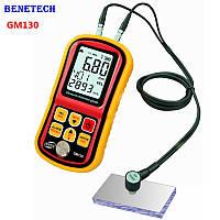 Ультразвуковий товщиномір Benetech GM130 ( 1,0-300 мм ) діапазон швидкості звуку від 1000 до 9999 м/с ) 5 МГц, фото 1