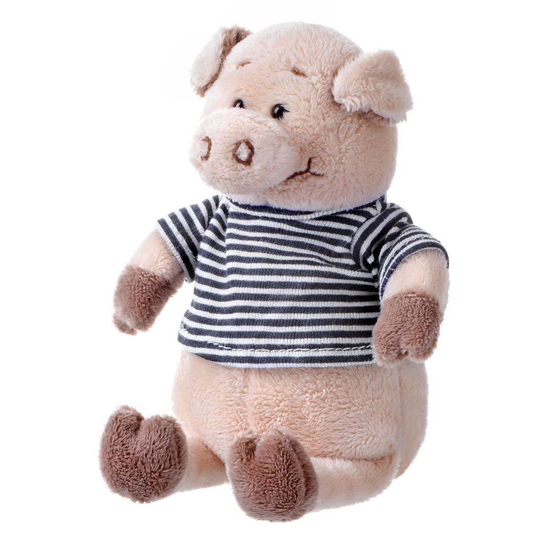 Свинка в чёрно-белой тельняшке, 18 см, «Same Toy» (THT716)