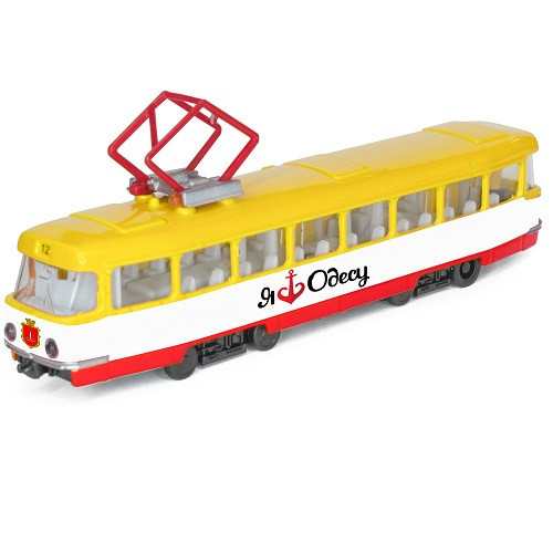 """Машина металлическая, """"TECHNOPARK"""", """"Городской трамвай Одесса"""", свет, звук, SB-17-16WB-O"""