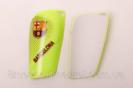 Щитки для футбола  Барселона салатовые 1085, фото 2