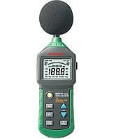 Шумомер Mastech MS6701(30-130 dB) в пыле и влагозащищённом прорезиненном корпусе, ПО, фото 1
