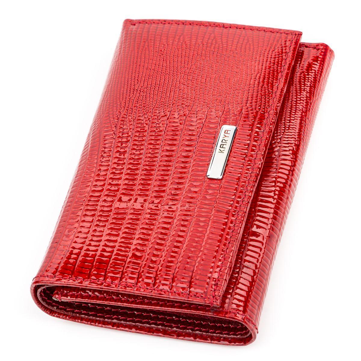 ec6f77884517 Кошелек женский KARYA 17169 кожаный Красный, Красный - купить по ...