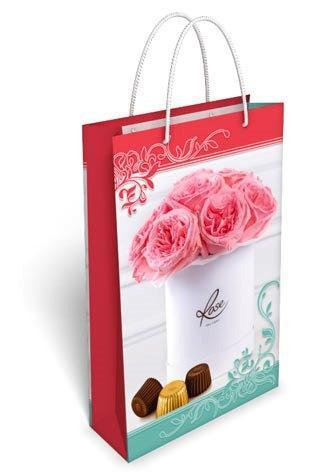 Пакет подарочный 17 х 27 см. Нежные розы 30.056