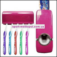 Диспенсер для зубной пасты + держатель для 5 зубных щеток