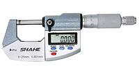 """Микрометр цифровой Shahe 0-25mm / 0-1""""0.001 (5203-25) в водозащищённом металлическом корпусе IP 65"""