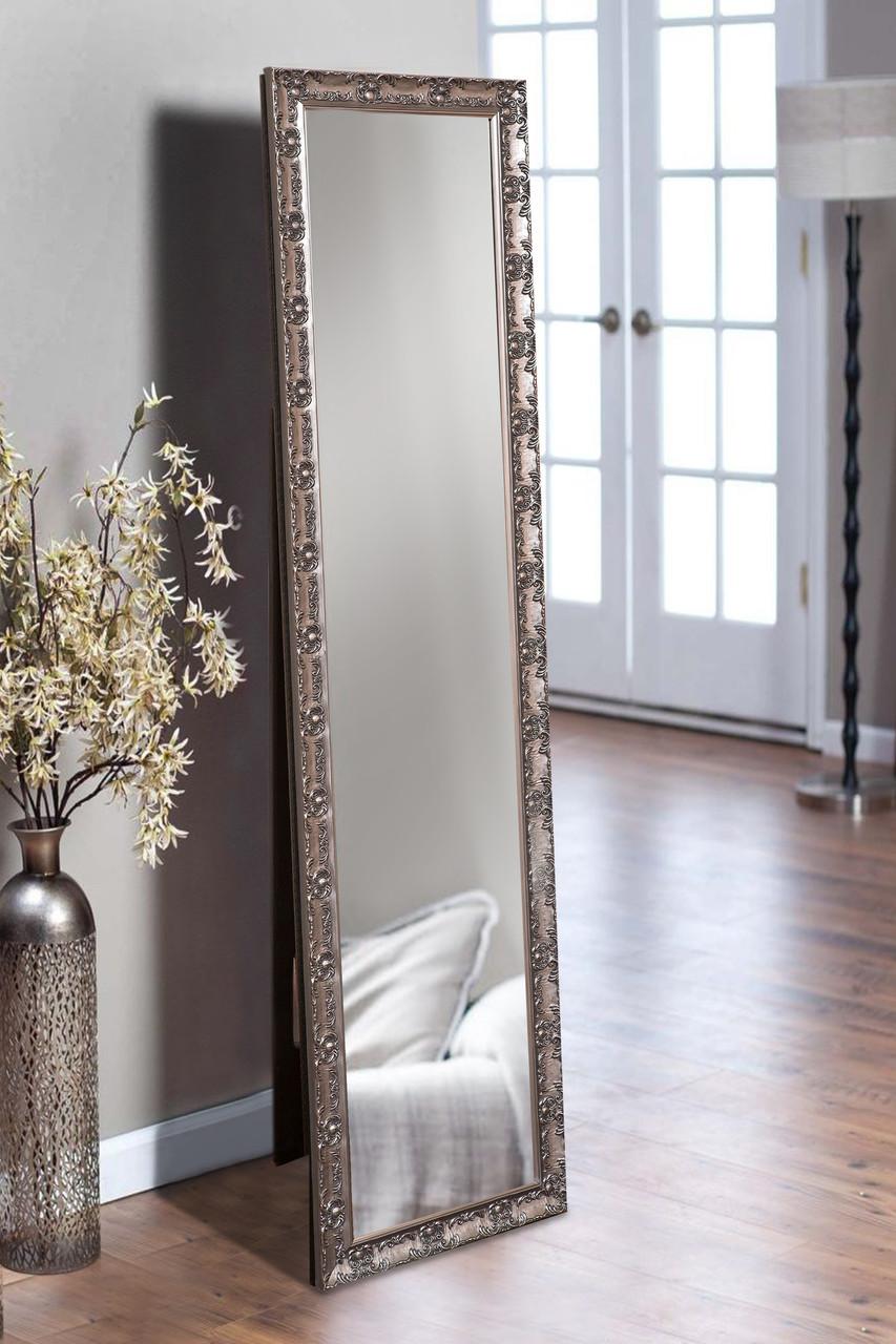Напольное зеркало в цвете графит 1650х400 мм