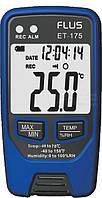 Регистратор температуры и влажности FLUS ET175 (-40°C~70°C; 0-100%) 32000 точек, фото 1