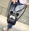 Рюкзак жіночий трансформер Mickey Mouse з вушками Чорний, фото 2