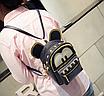 Рюкзак жіночий трансформер Mickey Mouse з вушками Чорний, фото 4