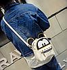 Рюкзак женский трансформер Mickey Mouse кожзам с ушками Бежевый, фото 5