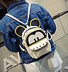 Рюкзак женский трансформер Mickey Mouse кожзам с ушками Бежевый, фото 2