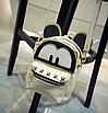 Рюкзак женский трансформер Mickey Mouse кожзам с ушками Бежевый, фото 3