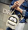Рюкзак женский трансформер Mickey Mouse кожзам с ушками Бежевый, фото 4