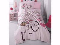 Комплект постельного белья Clasy Ranforce подростковый полуторный Paris love
