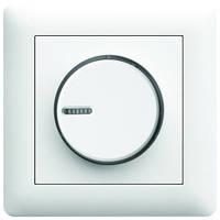 Светорегулятор поворотный диммер LUMINA2 Hager белый WL4010, фото 1