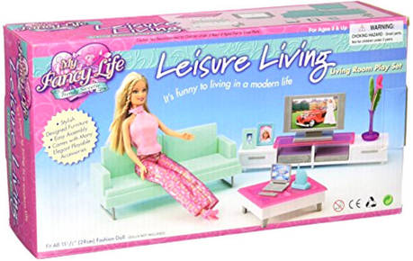 """Меблі для ляльок 2804 """"Вітальня модерн"""", фото 2"""