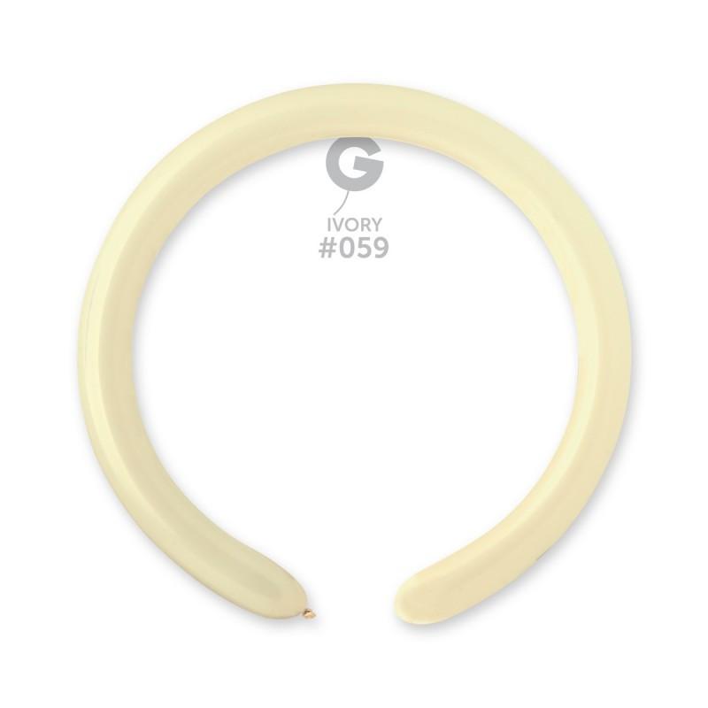 Латексные воздушные шары Gemar D4, расцветка: Пастель айвори, Шар для моделирования, шар конструктор 260 серия