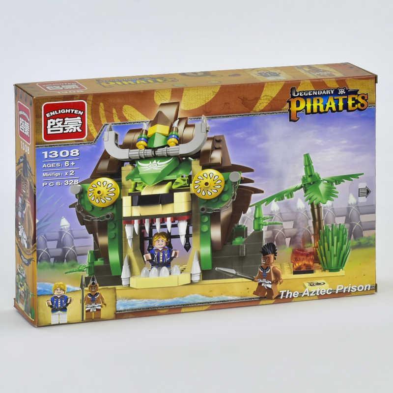 """BRICK 1308 (24) """"Пиратская серия"""", 328 дет, в коробке"""