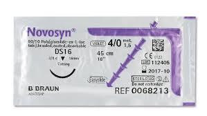 """Хірургічний шовний матеріал Новосин 4-0 (1.5) 45 см, обр-реж. голка 18мм ТМ """"B. Braun"""""""