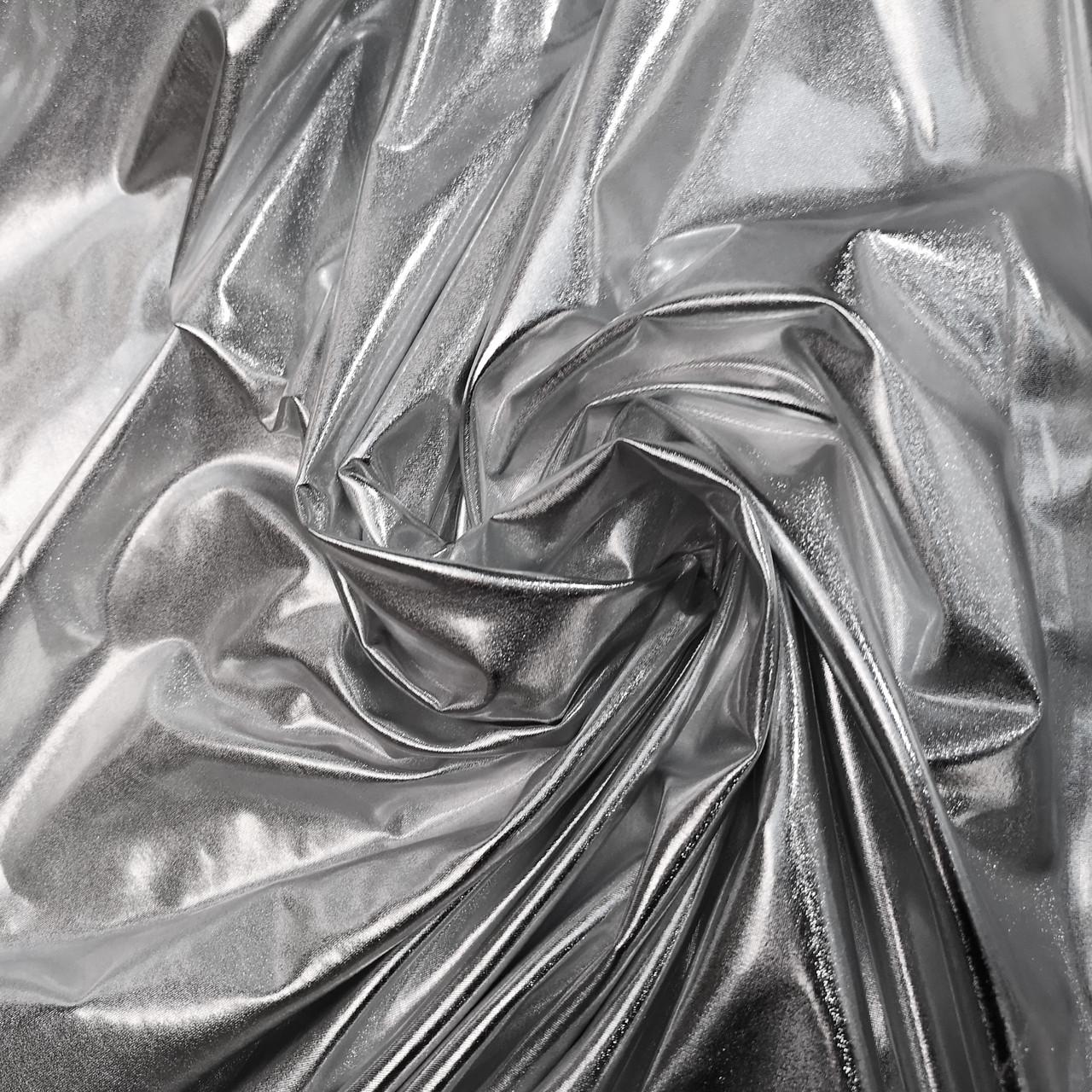 Трикотаж диско серебро