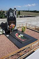 Памятник гранитный (крест, свеча, огонь) гравировка на заказ в крыму