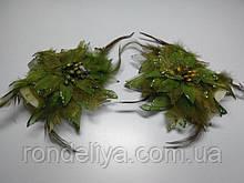 Заколки для штор оливковые