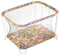 Манеж детский игровой  KinderBox классический Джунгли с крупной сеткой (kmk 310), фото 1