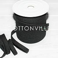Білизняна гумка чорна 8 мм, пружна, фото 1