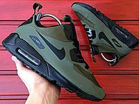 Мужские зимние термо кроссовки Nike Air Max 90 Mid Winter Green