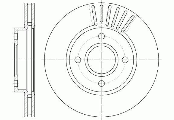 Диск тормозной FORD MONDEO, SCORPIO передн., вент. (пр-во REMSA) 6211.10