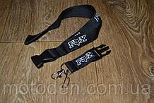 Шнурок на шею для ключей FOX черный