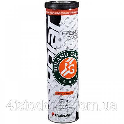 Мячи теннисные Babolat French Open Clay court 4 ball, фото 2