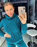 Женский вязаный костюм: свитер и штаны (4 цвета), фото 10