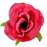 Букет розкритих троянд з гіпсофілою, 67см (5 шт в уп), фото 3