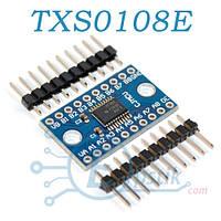 Модуль 8-канальный двунаправленный преобразователь уровней 3.3/5В, (TXS0108E)
