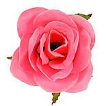 Букет розкритих троянд з гіпсофілою, 67см (5 шт в уп), фото 4
