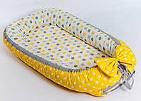 Кокон – гнездышко позиционер для новорожденных класика BabySoon Мое солнышко 50х80см