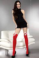 Красные чулки новогодние  с бантиком Cilla LC