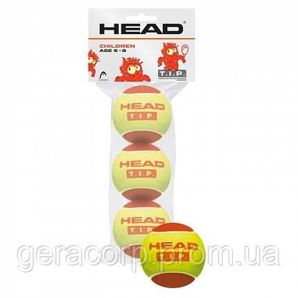 Мячи теннисные Head TIP Orange 3B пакет, фото 2