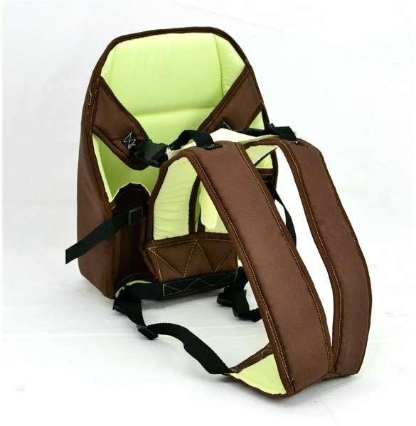Гр Рюкзак-кенгуру №6 (1) сидя, цвет коричневый. Предназначен для детей с трехмесячного возраста
