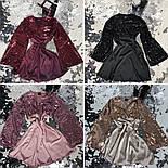 Женское праздничное платье пайетки и шелк (4 цвета), фото 3